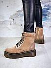 Женские демисезонные ботинки коричневого цвета из натуральной замши 39 ПОСЛЕДНИЕ РАЗМЕРЫ, фото 2