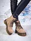 Женские демисезонные ботинки коричневого цвета из натуральной замши 39 ПОСЛЕДНИЕ РАЗМЕРЫ, фото 5