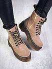 Женские демисезонные ботинки коричневого цвета из натуральной замши 39 ПОСЛЕДНИЕ РАЗМЕРЫ, фото 4