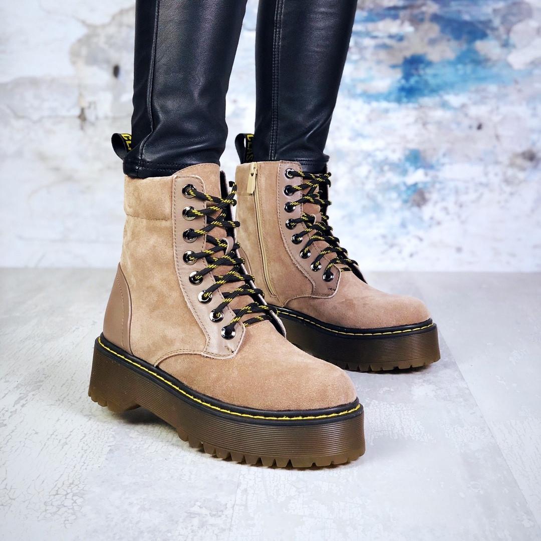 Женские демисезонные ботинки коричневого цвета из натуральной замши 39 ПОСЛЕДНИЕ РАЗМЕРЫ