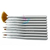 Набор кистей для маникюра Nail art Brush 9 шт