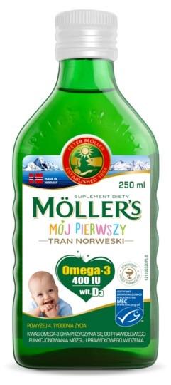 Рыбий жир  Mollers Tran  для для новорожденных от 4 недель 250 мл
