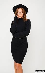 Женское черное вязаное платье (Лораkr)