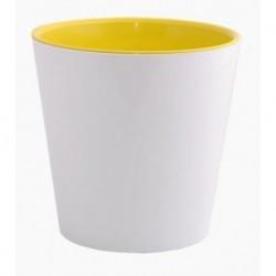 Горщик квітковий Деко 16*15,5 біло-жовтий, Україна