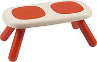 Лавочка без спинки детская Smoby Toys Красная (880303)