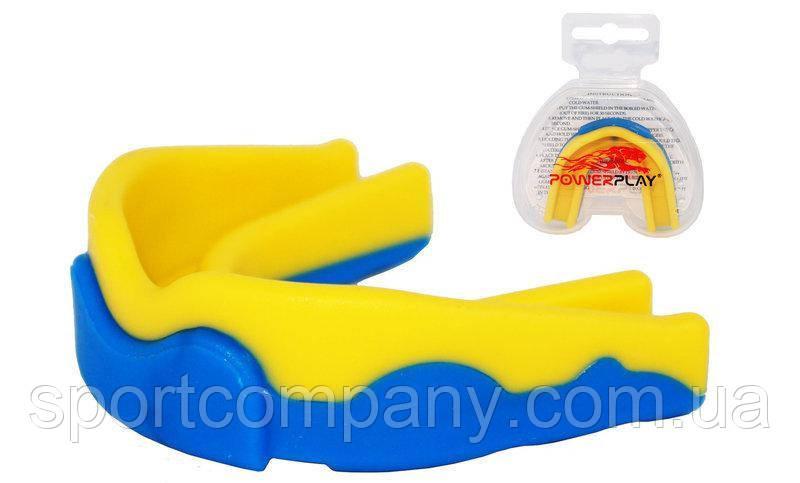 Капа боксерская Power Play 3301 (детская, сине-желтая)