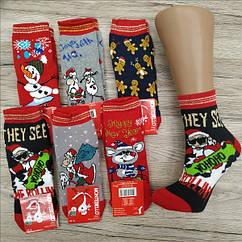 Ароматизированные новогодние носки детские  с махрой MONTEBELLO 552 бамбук Турция 9-размер НГ-7