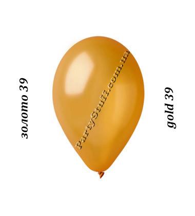Воздушные шарики Gemar GM90 металлик ЗОЛОТО 10' (26 см)
