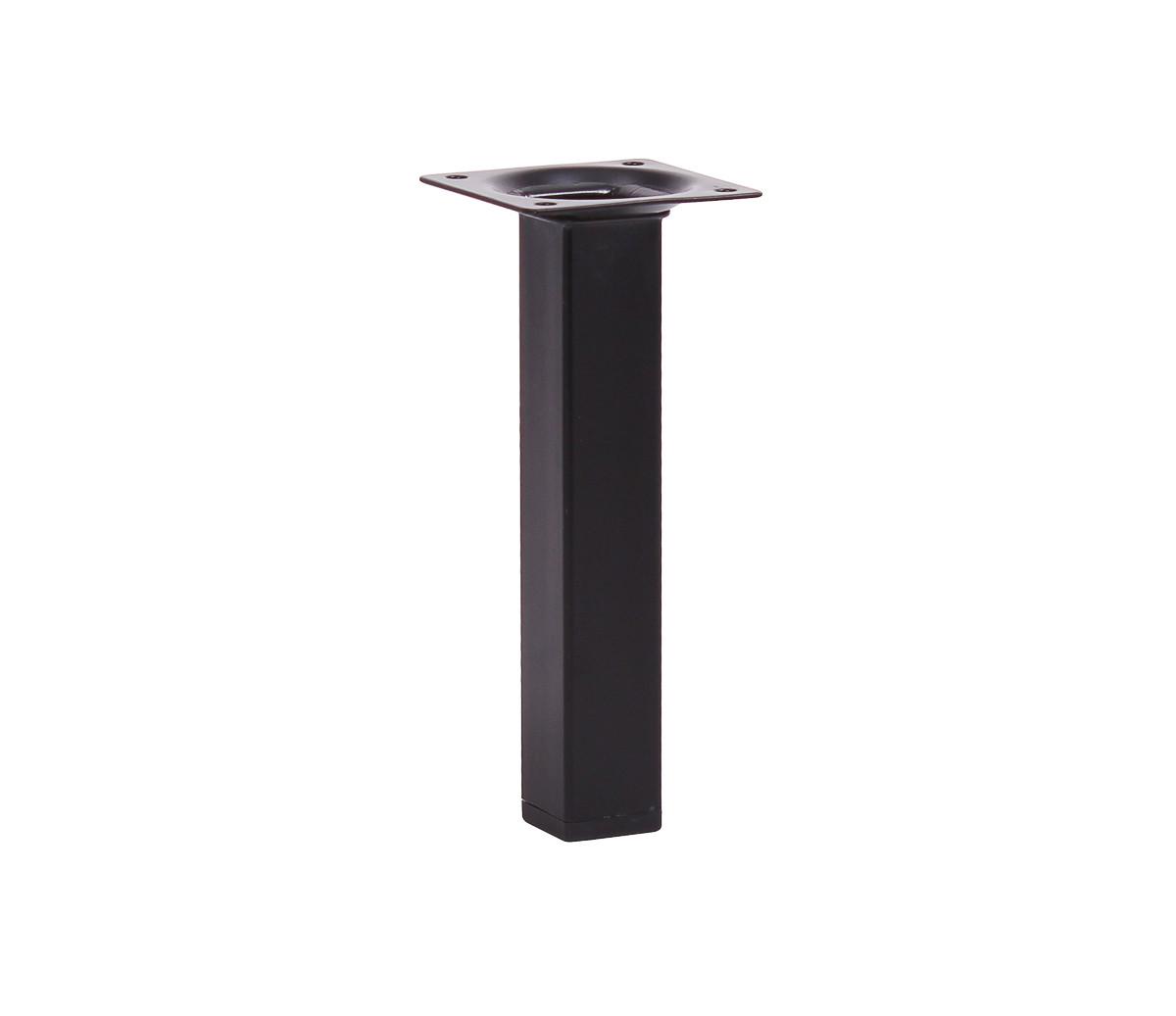 Мебельная нога Larvij 150 x 25 мм черная (L61S15BL25). Мебельная ножка. Мебельная опора. Квадратная