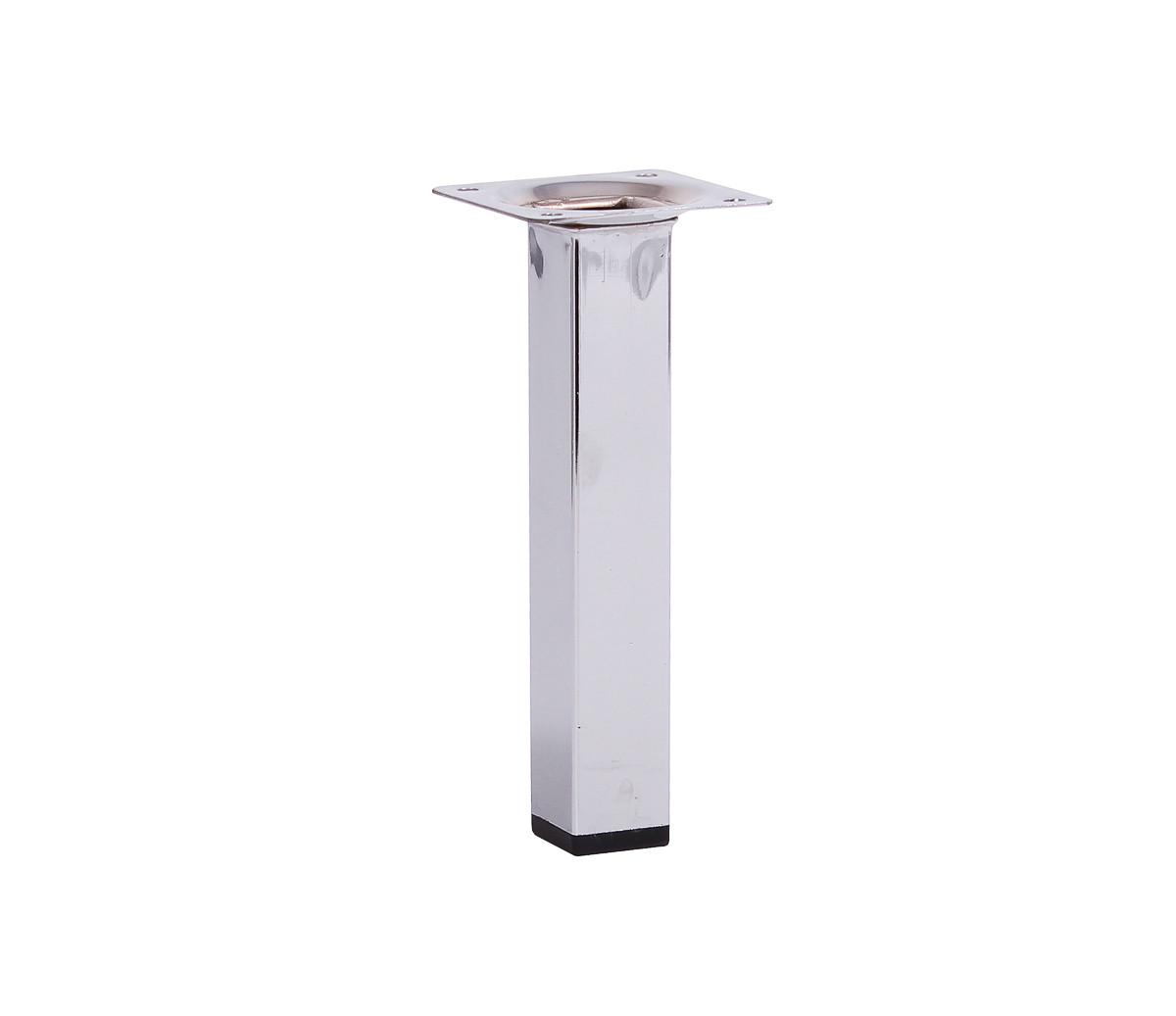 Мебельная нога Larvij 150 x 25 мм хром(L61S15CH25). Мебельная ножка. Мебельная опора. Квадратная