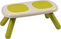 Лавочка без спинки детская Smoby Toys Зеленая (880301)