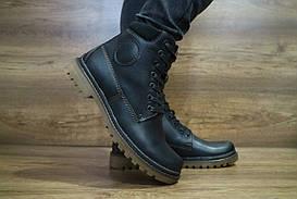 Ботинки мужские Udg 729 черные (натуральная кожа, зима)