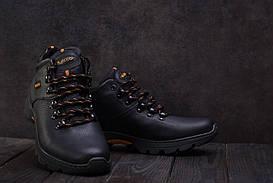 Ботинки мужские Anser 130 черные (натуральная кожа, зима)