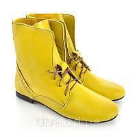 Желтые ботинки женские 7006yellow интернет магазин ботинок для женщин