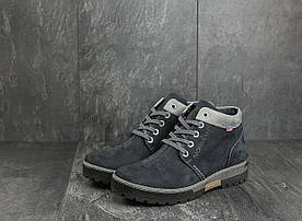 Ботинки мужские Norman Z158 синие (нубук, зима)
