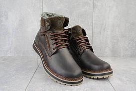 Ботинки мужские Riccone 222 коричневые (натуральная кожа, зима)
