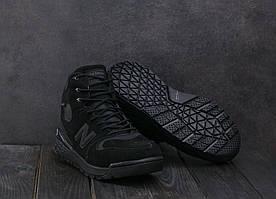 Кроссовки мужские Classica AМ 819 -1 W черный (замша, зима)