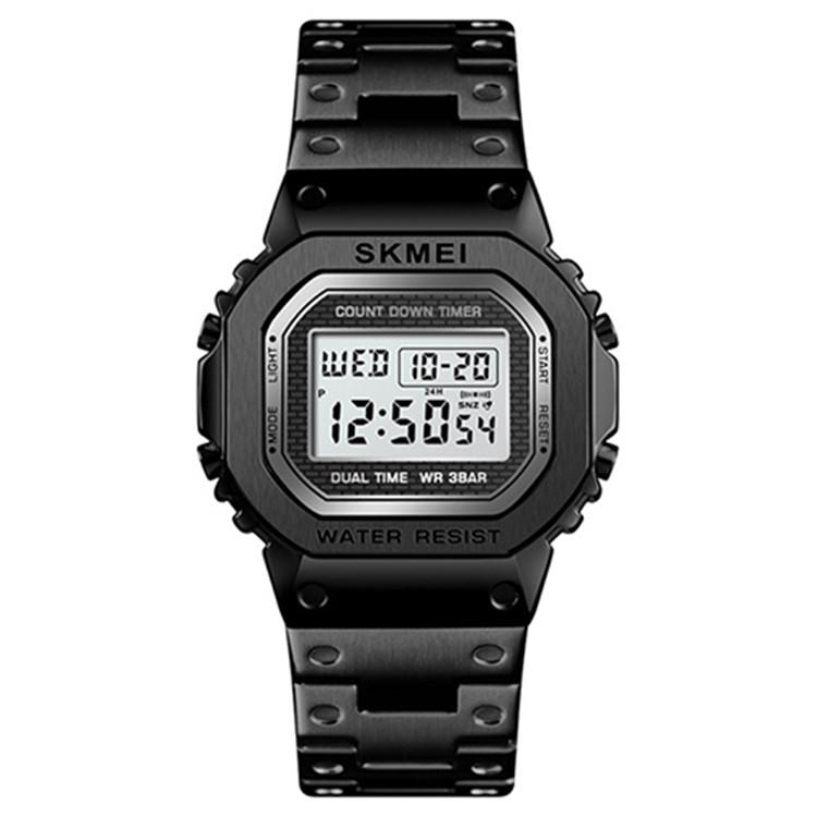 Skmei 1456 singapore  черные мужские спортивные часы