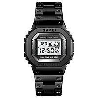 Skmei 1456 singapore  черные мужские спортивные часы, фото 1