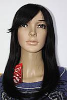 Парик натуральный черный имитация кожи головы длинные волосы