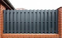 Металевий штахетник трапецевидний (ширина 11.5см), глянцеве покриття, товщина 0,45мм, фото 1