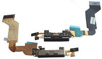 Шлейф с разъемом зарядки (Charger Flat Cable) iPhone 4S, черный