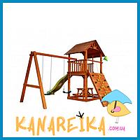 """Детский спортивный комлпекс из дерева для дачи """"Забава - 2"""""""