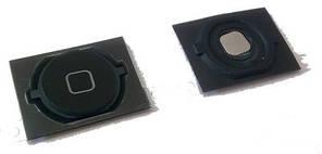 Кнопка Home iPhone 4S Black с креплением