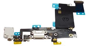 Шлейф з роз'ємом зарядки і навушників для Apple iPhone 6S Plus, білий
