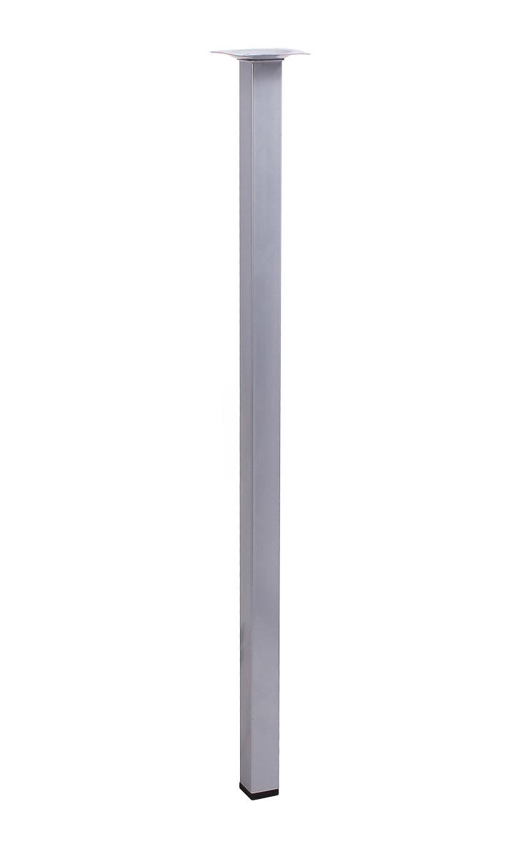 Ножка мебельная квадратная Larvij 600xd25 мм Серебристый (L61S60MS25)