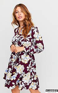 Женское расклешенное платье с цветочным принтом (Стритkr)