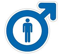 Табличка інформаційна туалет чоловік