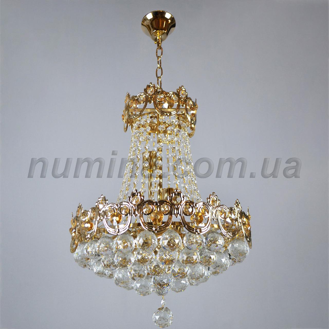 Люстра подвесная хрустальная на восемь ламп 3-E1463/8