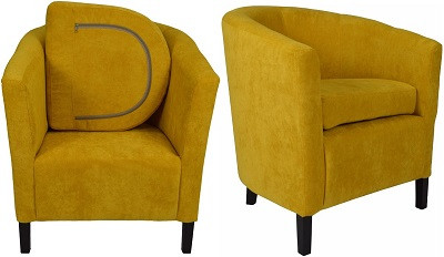 Кресло Бафи желтое - картинка