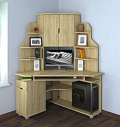 Кутовий комп'ютерний стіл Форум від Летро (12 варіантів кольорів)