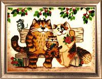 Набор для вышивания бисером Семейство кошачьих БФ 606