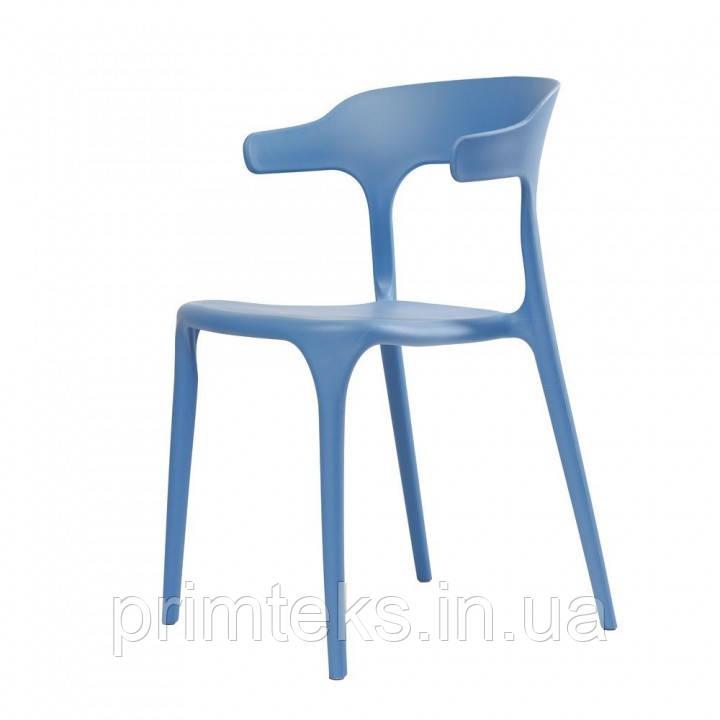 Стул пластиковый LUCKY (Лаки) голубой