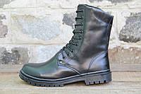 Взуття тактичне зимове армійське з натуральної шкіри та хутра берци зимові ОС НАТО