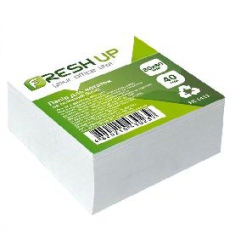 Блок бумаги Fresh Up FR-1411 для заметок белый не клееный 80х80х40мм (1/24/2304)
