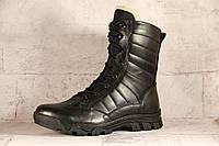Взуття тактичне зимове армійське з натуральної шкіри та хутра берци Тайфун
