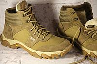 Взуття тактичне зимове армійське з натуральної шкіри та хутра берци мах ev беж зима