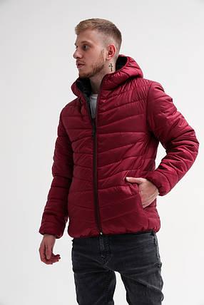 Мужская демисезонная куртка с капюшоном (S, M, L, XL размеры), фото 2