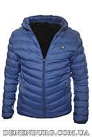 """Куртка мужская демисезонная с подогревом от """"Power bank"""" BAODU 19-027 синяя, фото 1"""