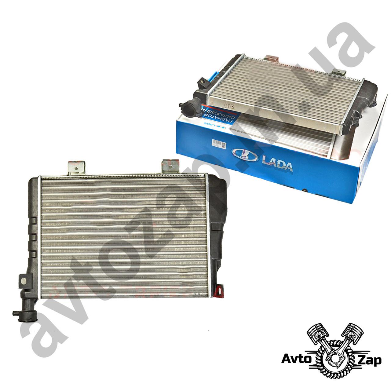 Радиатор ВАЗ 2107,2104-05, алюм., основной (под датчик включения вентилятора)    00799