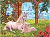 "Картина по номерам 3383 ""Единорог на  лугу"" 40х50см, набор краски акрил, кисть -3шт"