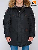 Зимняя мужская куртка парка Olymp - Montana , Color: Black