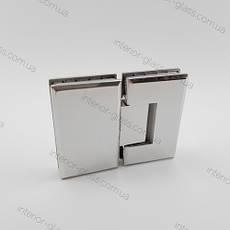 Петля душевая стекло-стекло 180° HDL-303 CP полированный хром