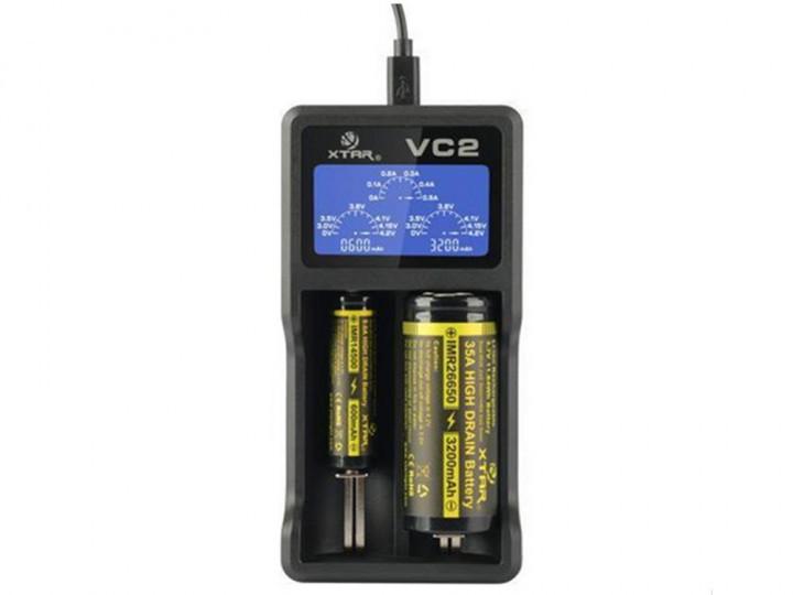 Зарядное устройство XTAR VC2 для Li-Ion аккумуляторов с LCD-дисплеем (1001-237-00)