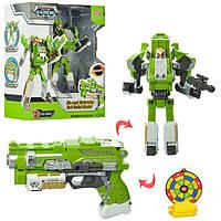 Детский робот трансформер пистолет игрушка для мальчика Зеленый