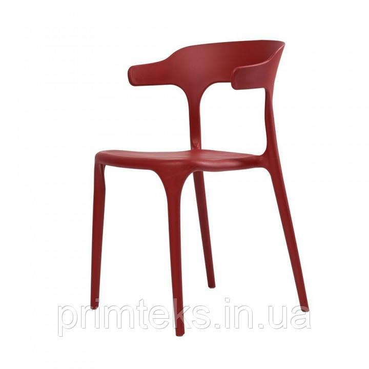 Стул пластиковый LUCKY (Лаки) красный кармин